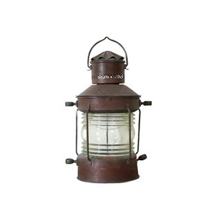 Vintage Nautical Hanging Oil Lamp
