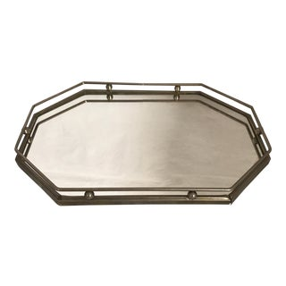 Silver Plate Art Deco Mirrored Vanity Tray
