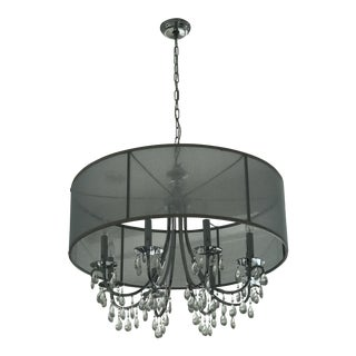 Crystal & Chrome 8 Light Chandelier