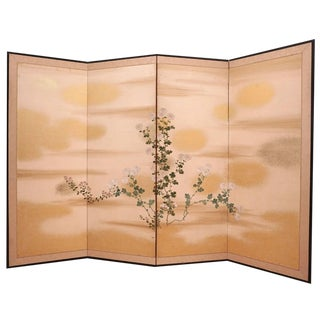 Four panel Japanese sceen