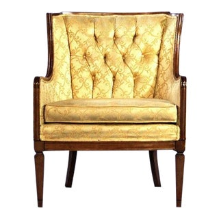 Mid-Century Yellow Tufted Armchair