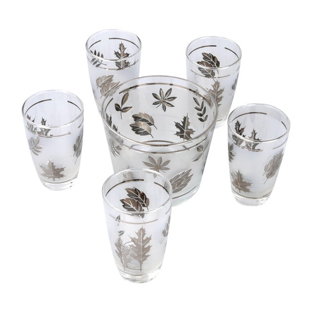 Silver Leaf Drinking Glasses Set - Set of 6 - Image 1 of 7