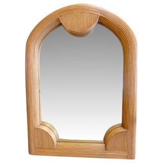 Mid-Century Rattan Mirror