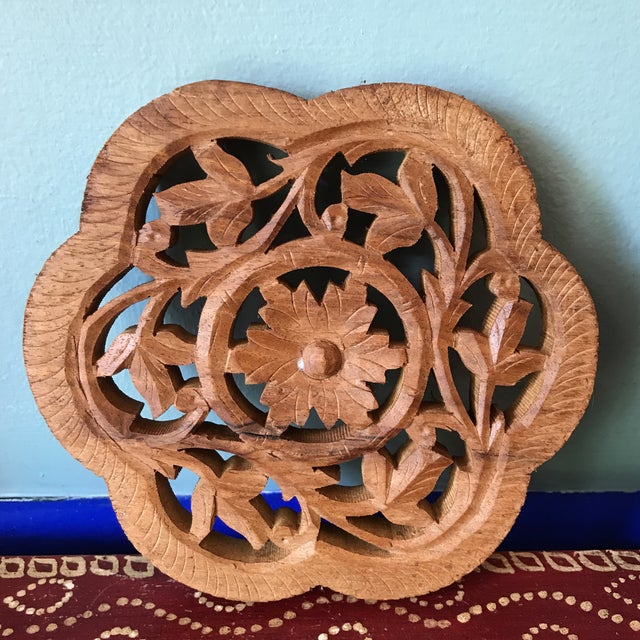 Hand-Carved Trivets - Set of 3 - Image 9 of 10