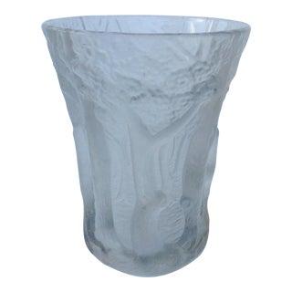 "c1920s-30s Czechoslovakian Joseph Inwald Barolac Large Crystal ""Trees"" Vase"