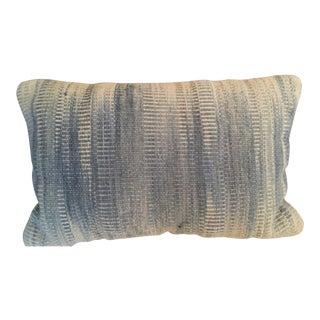 Woven Textured Indigo Lumbar Pillow