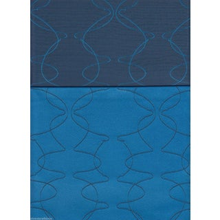 Luna Textiles Reversible Mezzanine in Mermaid Blue - 18 Yds
