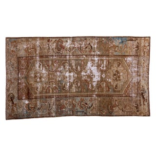 """Antique Distressed Malayer Rug - 3'5"""" x 6'1"""""""