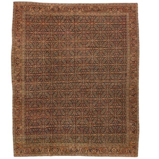 Extremely Finely Woven Antique 19th Century Herat Carpet