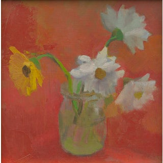 """""""Four Daisies"""" Painting by Amy Griffith Colley"""