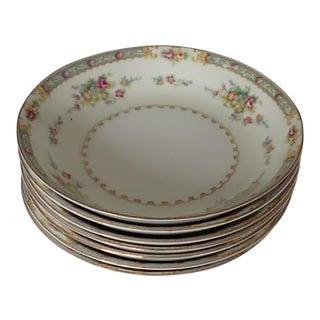 Cottage Style Floral Soup Bowls S/7