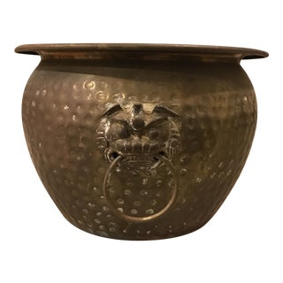 Brass Foo Dog Planter