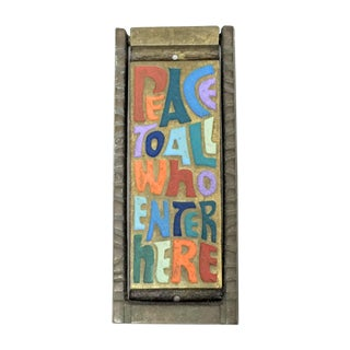 """""""Peace to All Who Enter Here"""" Brass Door Knocker"""