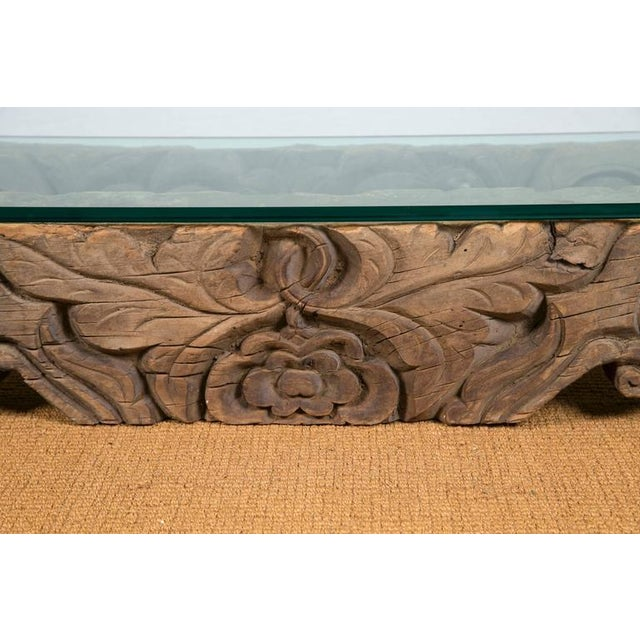 Tibetan Hand-Carved Architectural Element Table - Image 4 of 4