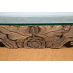 Image of Tibetan Hand-Carved Architectural Element Table