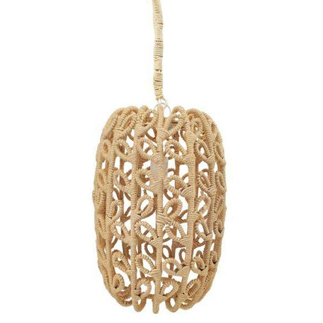 Boho-Chic Jute Pendant Light - Image 1 of 6