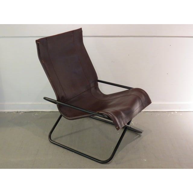 Vintage MCM Uchida Leather Sling Chair - Image 10 of 11