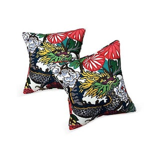 Schumacher Ming Dragon Pillows - Pair