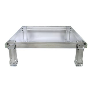 VJJ Square Lucite Cocktail Table