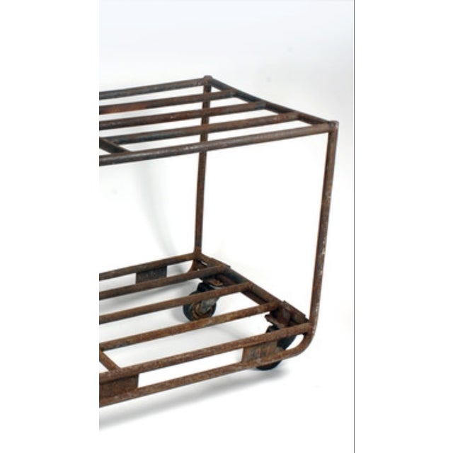 Vintage European Industrial Rolling Cart - Image 3 of 3