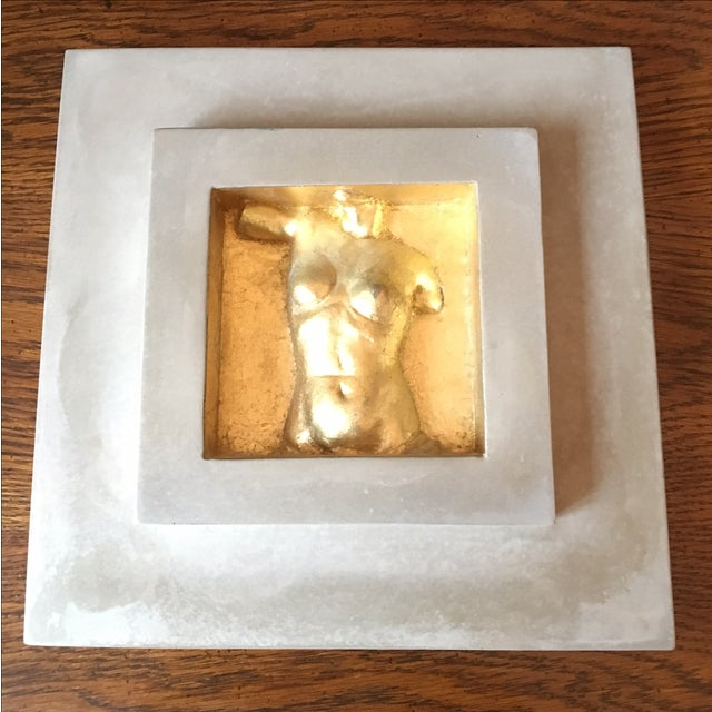Image of Concrete & Gold Female Bust