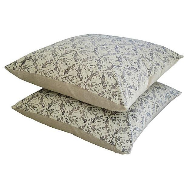 Custom Brunschwig & Fils Imperial Pillows - A Pair - Image 5 of 7