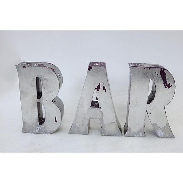 "Vintage English ""Bar"" Marquee Letters - Image 2 of 4"