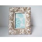 Image of Metallic Pewter Fleur Picture Frame