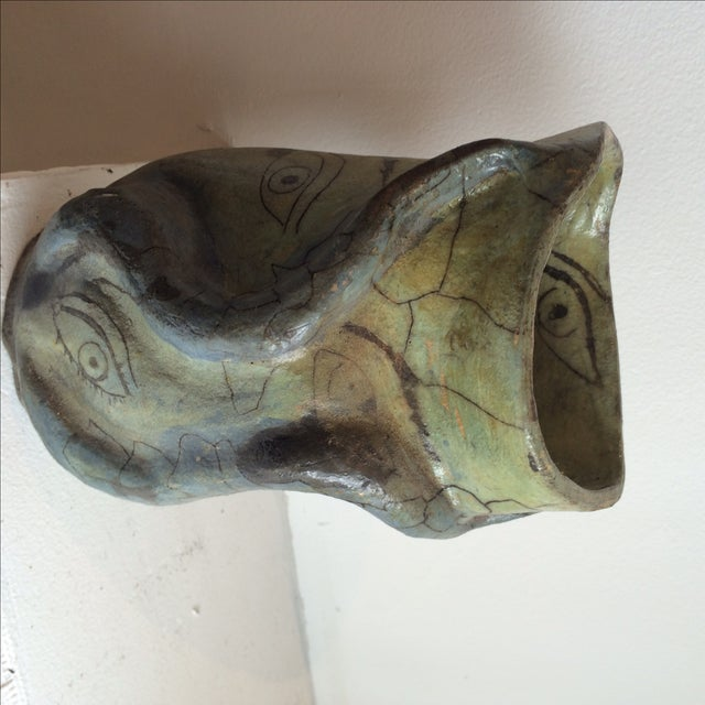 Studio Ceramics Green Eyes Pottery Vase - Image 4 of 9