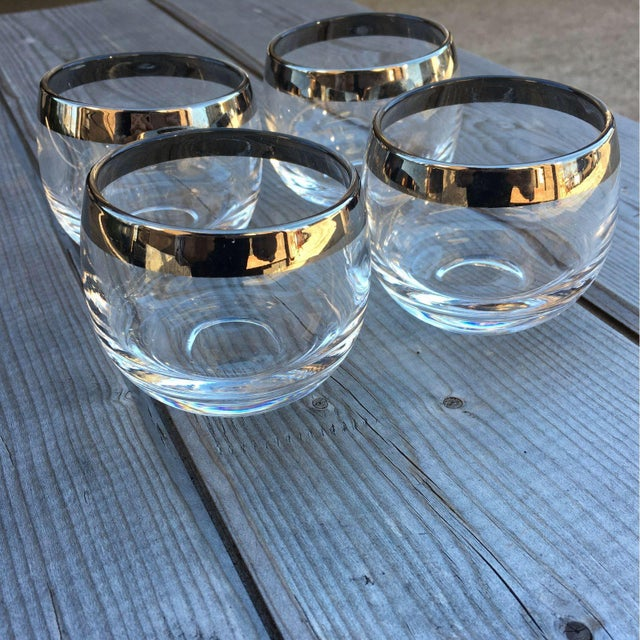 Image of Dorothy Thorpe Roly Poly Silver Glasses - Set of 4