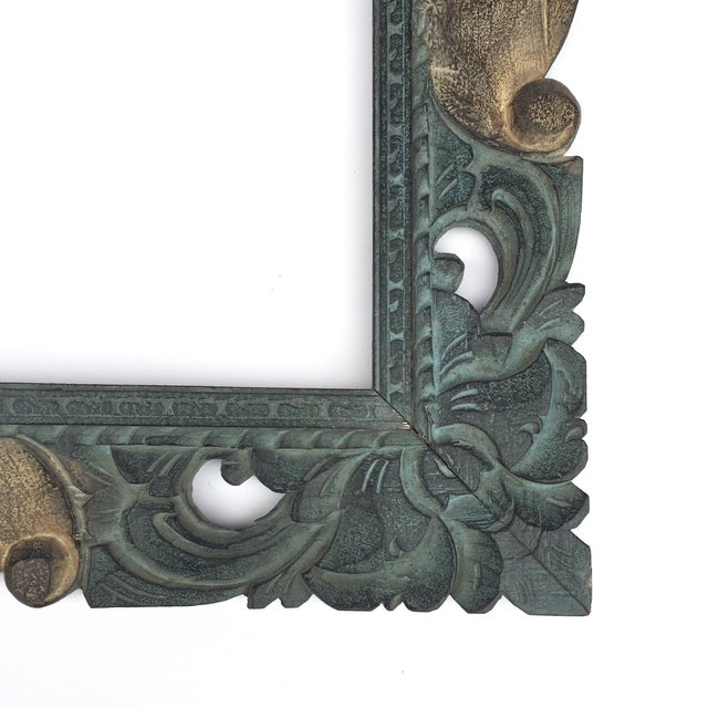 East Asian Hand Carved Mirror Frame - Image 2 of 5
