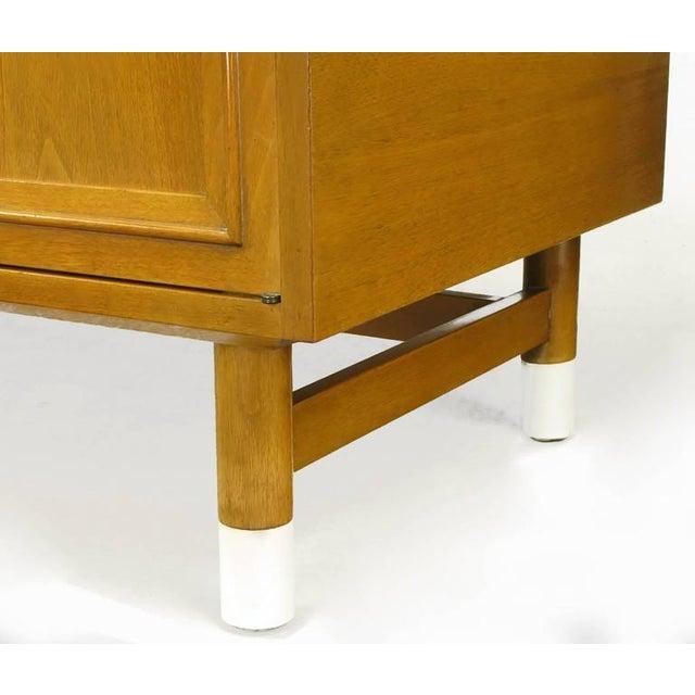Image of Renzo Rutili Bleached Mahogany and White Micarta Long Cabinet