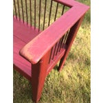 Image of Spindle-Back Red Bench