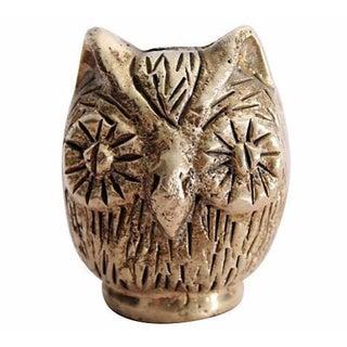 Brutalist Brass Owl Sculpture