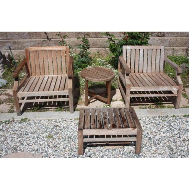 Teak Wood Patio Set - 8 Piece Set - Image 5 of 8