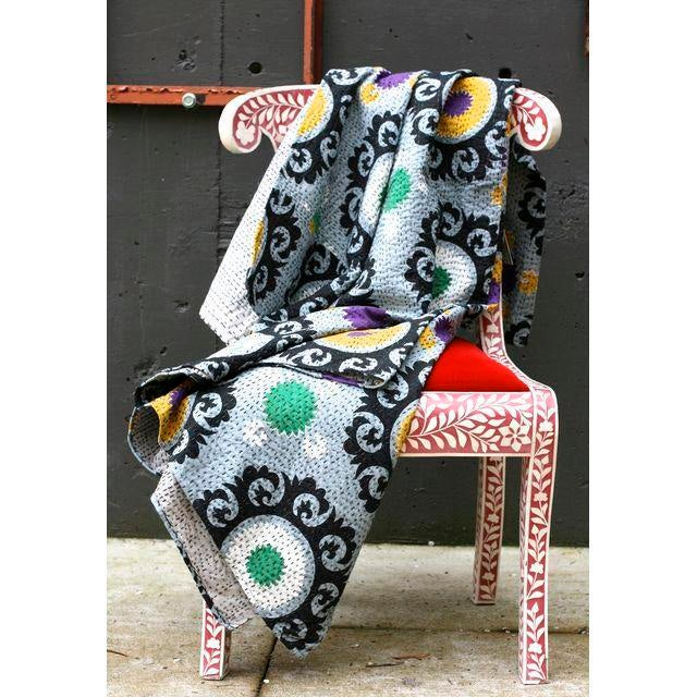 Image of Grey Suzani Throw