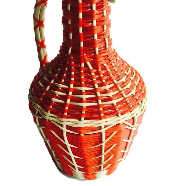 Image of Mid Century Glass Decanter, Spanish Woven