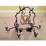 Image of French Antique Rooster Sign Chandelier