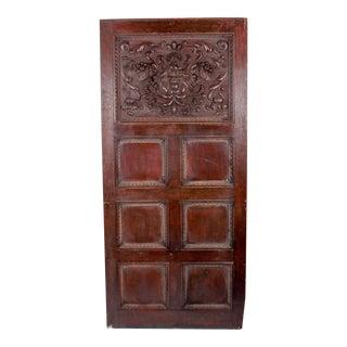 C. 1880 Vanderbilt Mansion Original Hand-Carved Oak Lion Wall Panel