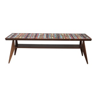 Copper Italian Enameled Coffee Table