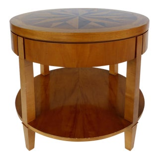 Baker Inlaid Compass Rose Side Table