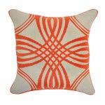 Image of Orange & Beige Linen Pillow