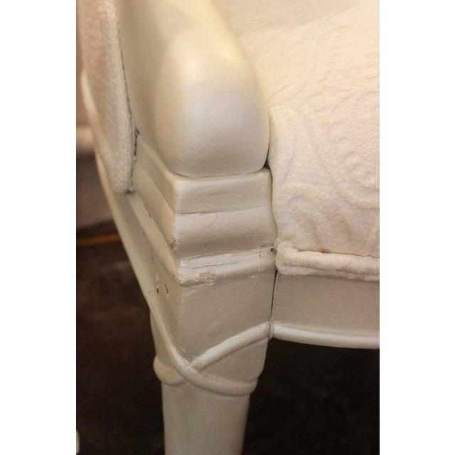 Vintage Pearl Damask Chairs - A Pair - Image 9 of 10