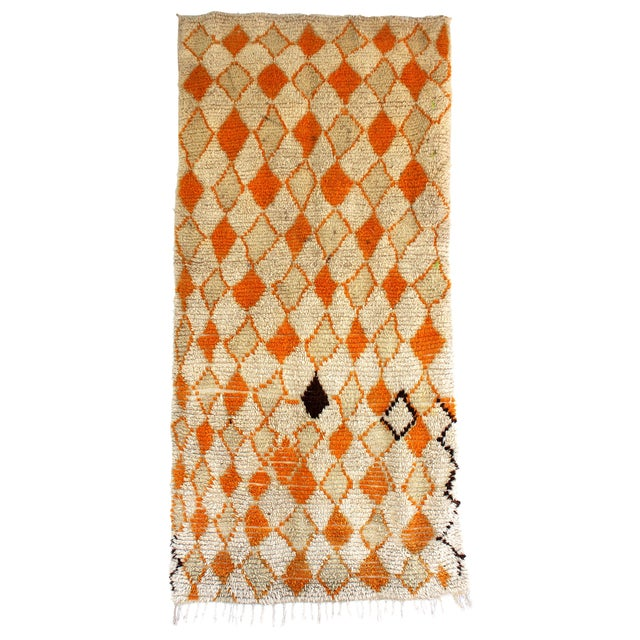 Vintage Azilal Moroccan Berber Rug- 4′2″ × 8′3″ - Image 1 of 2
