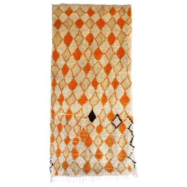 Image of Vintage Azilal Moroccan Berber Rug- 4′2″ × 8′3″