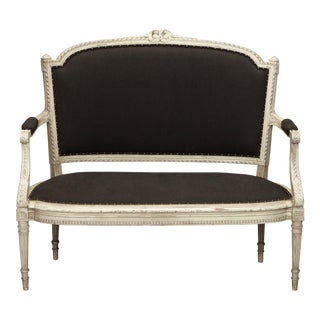 19th Century French Cream Painted Settee