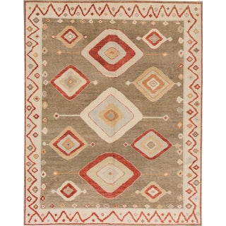 Turkish Oushak Geometric Rug - 8' x 10'2""