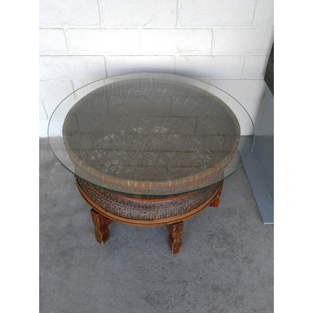 Boho Style Coffee Table - Image 3 of 7