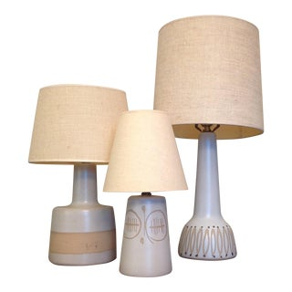 Martz and Marshall Ceramic Lamps - Set of 3
