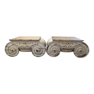 Restoration Hardware Capital Tables - A Pair